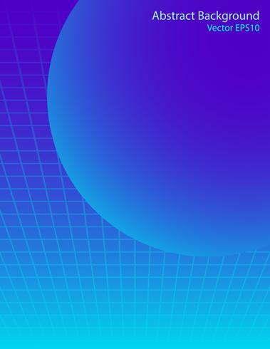 Esfera azul de fundo vector