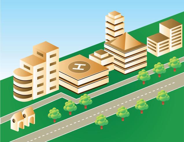 city in brown color vector