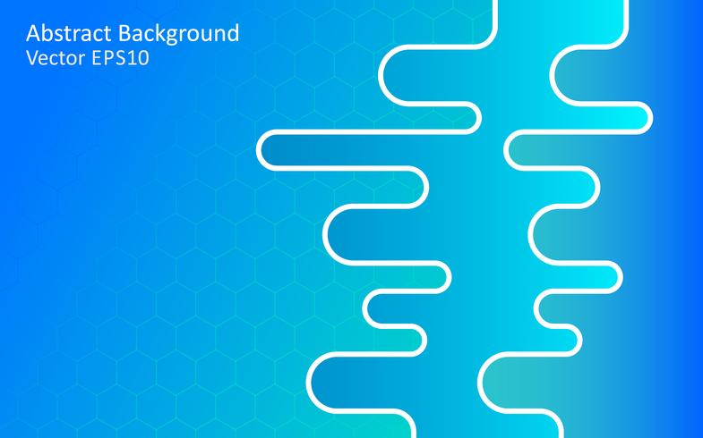 Blue abstract vector background, template design