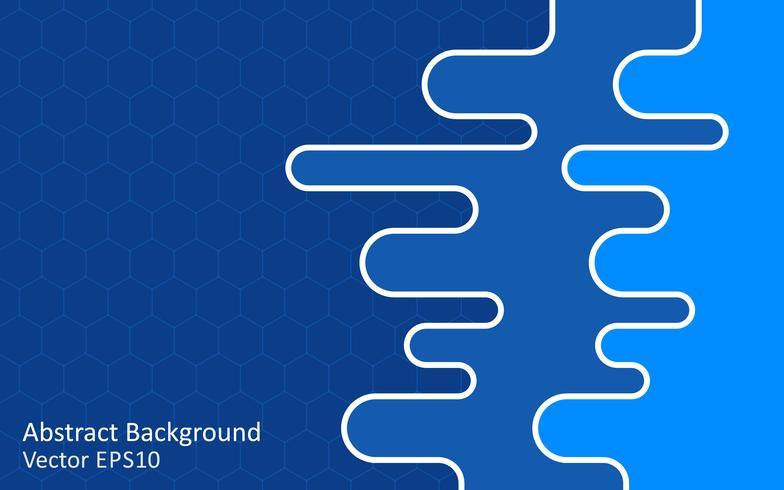 Blue vector background, template design