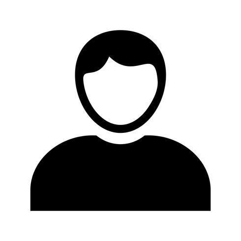 admin roles glifo icono negro