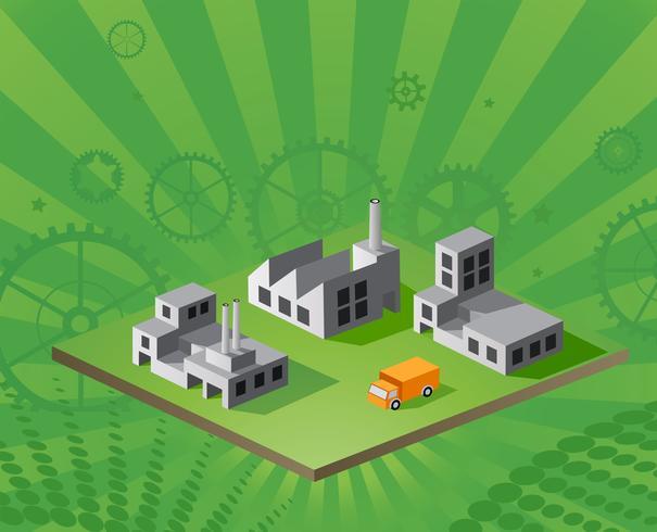 Vector isometrische fabriek