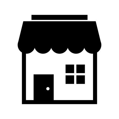 Shop Glyph Black Icon