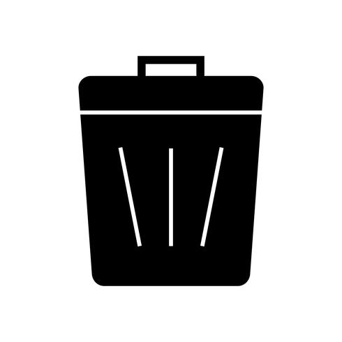 Icono de basura glifo negro