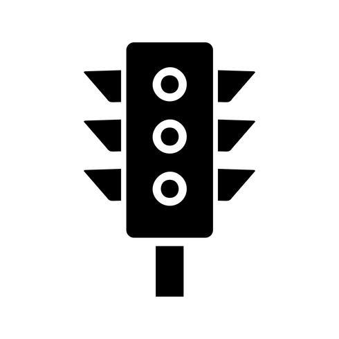 Icona del glifo del segnale stradale nero vettore
