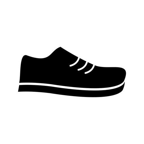 Icono de zapato glifo negro