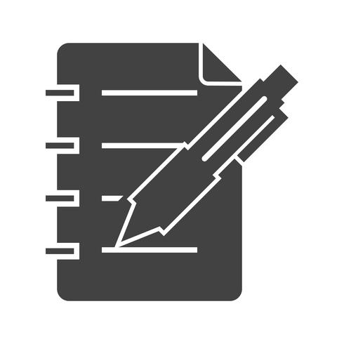 Business note Glyph Black Icon