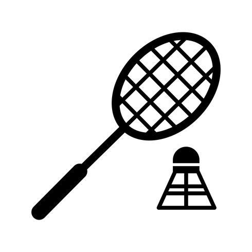 Badminton Glyphe schwarze Ikone