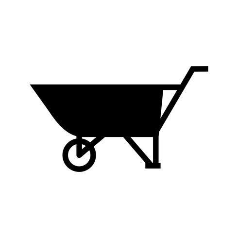 kruiwagen Glyph Black pictogram