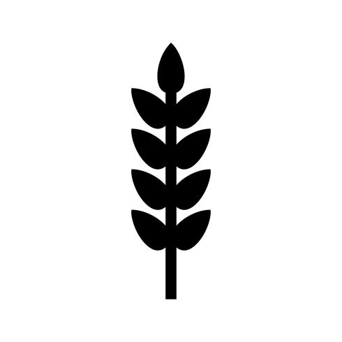 wheat Glyph Black Icon