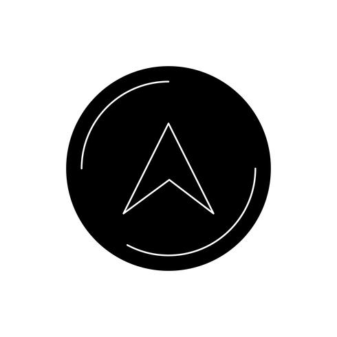 navigeringsgulfen svart ikon