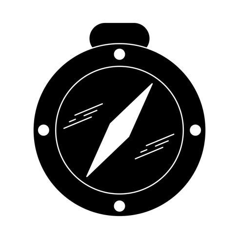 Icône Compass Glyph Black