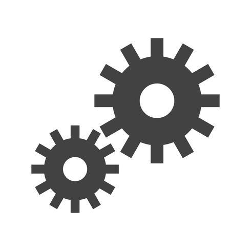 Erweiterte Optionen Glyphenschwarzes Symbol