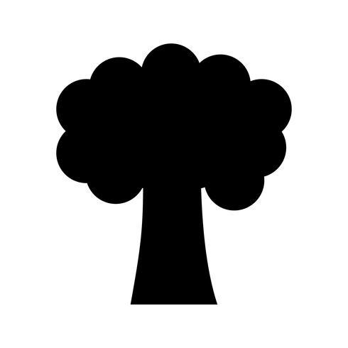 Baum Glyphe Schwarze Ikone