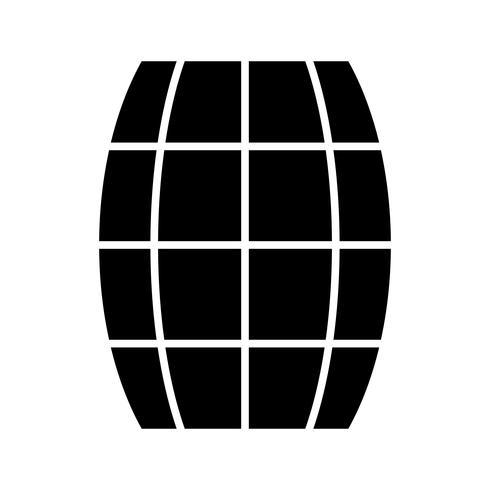 Fass Glyphe schwarze Ikone
