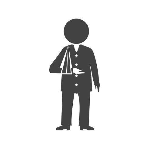 Icona del glifo della salute nera