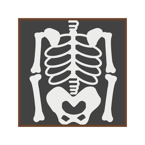 Icona di scheletro piatto