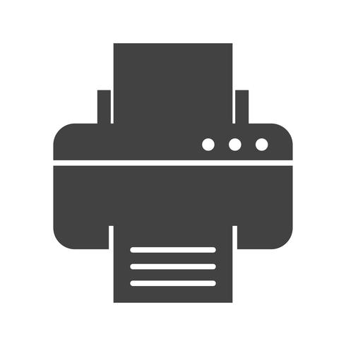 Printer Glyph Black Icon