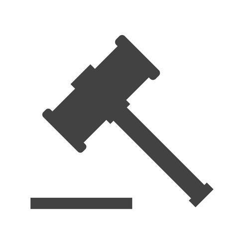 wooden hammer Glyph Black Icon