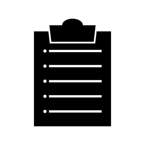 Clipboard list Glyph Black Icon