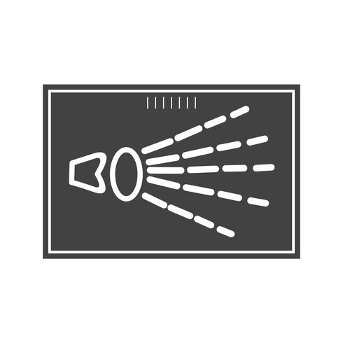 Icono de mano de rayos x glifo negro