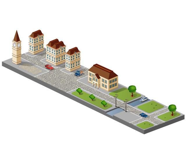 Ville en isométrique
