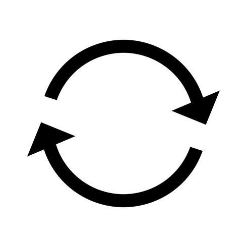 Herhaal Glyph Black-pictogram