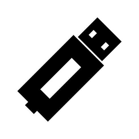 Icona del glifo USB nero