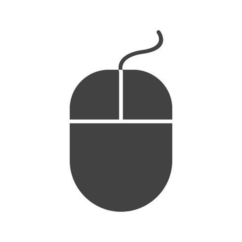 Mouse Glyph Black Icon
