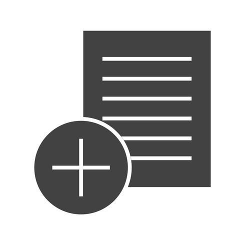 Notities toevoegen Glyph Black-pictogram