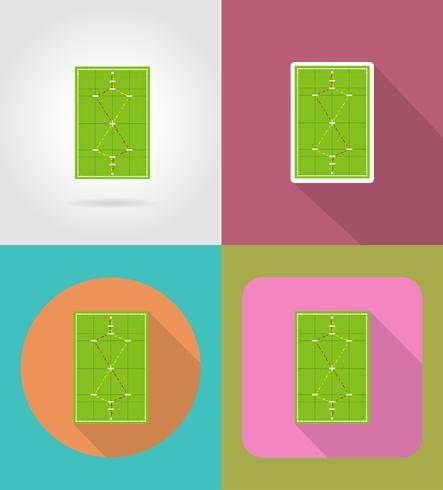 playground for croquet flat icons vector illustration