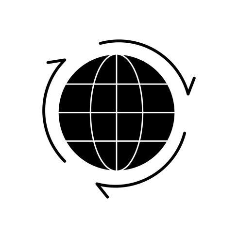 Globe Glyph Black Icon vector