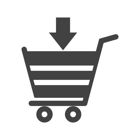 Shopping Glyph Black Icon