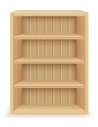bookshelf furniture made of wood vector illustration
