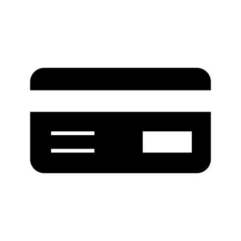 Tarjeta de crédito Glyph Black Icon vector