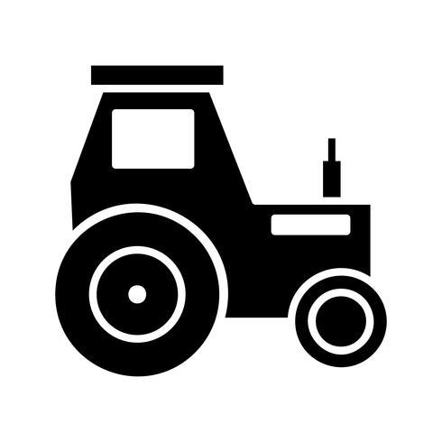 Icona del glifo del trattore nero