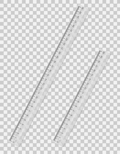 transparante liniaal vectorillustratie