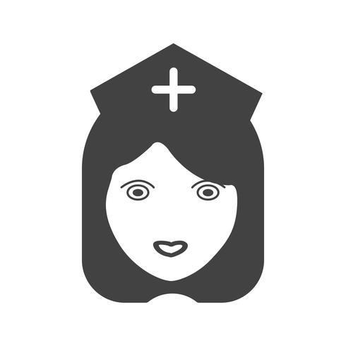 icona glifo infermiera nera