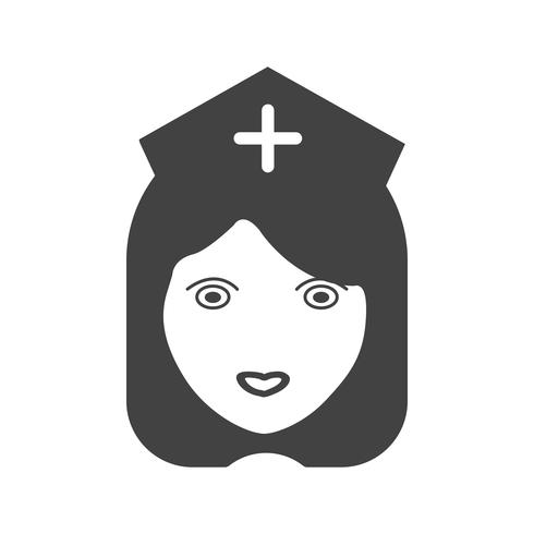 Enfermeira Glyph Black ícone