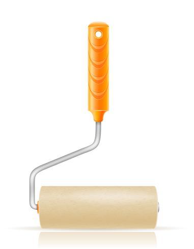 paint roller brush vector illustration