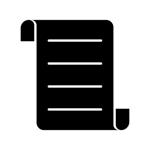 Icône de contrat glyphe noir