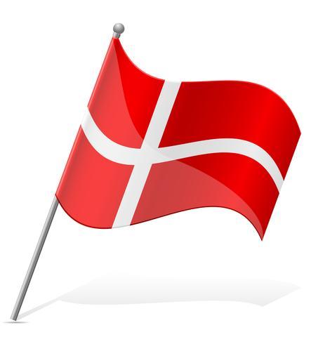 Bandera de ilustración vectorial de Dinamarca