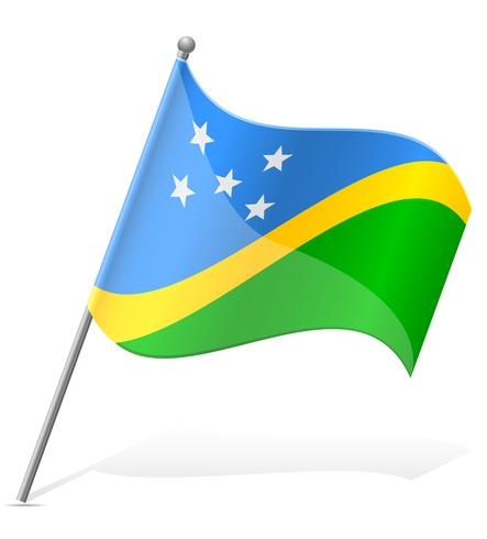 bandiera delle Isole Salomone illustrazione vettoriale
