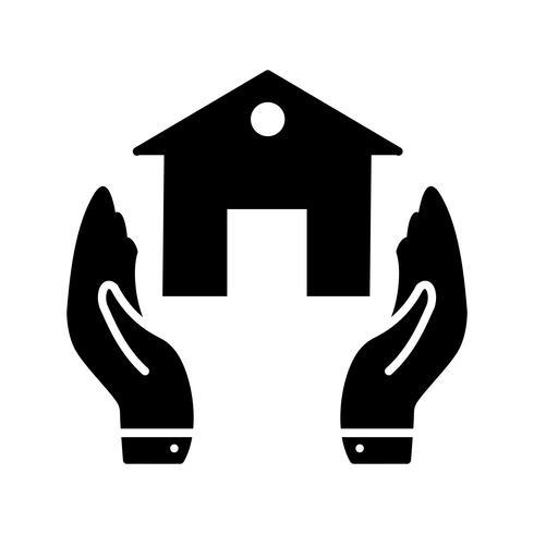 Icona del glifo di assicurazione nera