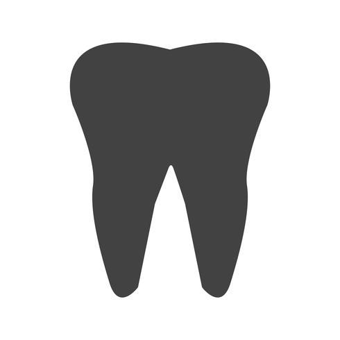 diente glifo icono negro
