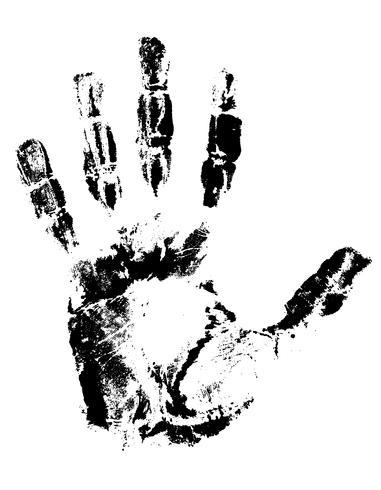 Handabdruck schwarze Vektor-Illustration