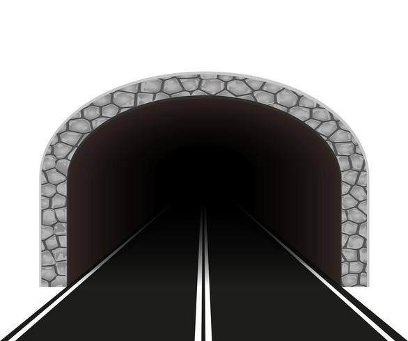 illustration vectorielle de tunnel automobile vecteur