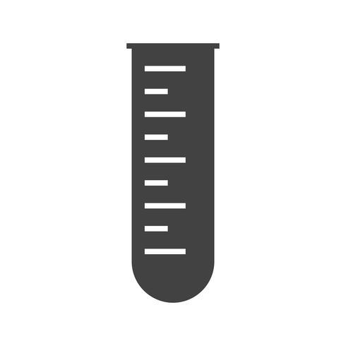 Test tube Glyph Black Icon
