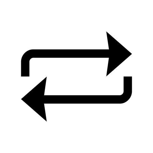 Ripeti l'icona del glifo nero