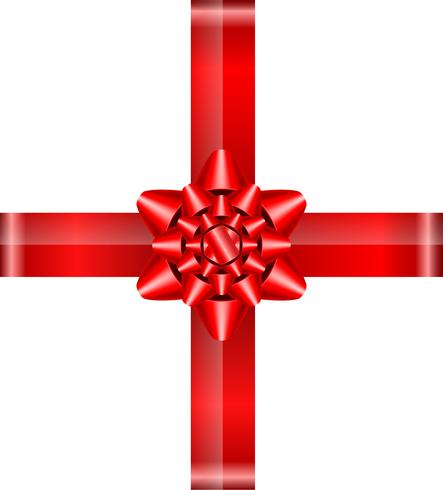 fiocco rosso con nastri illustrazione vettoriale